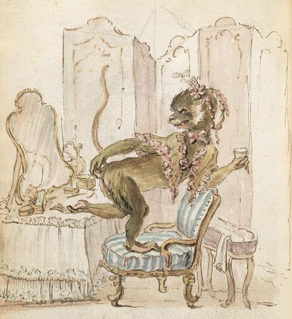 Cum era reprezentată Madame de Pompadour în ilustraţiile vremii