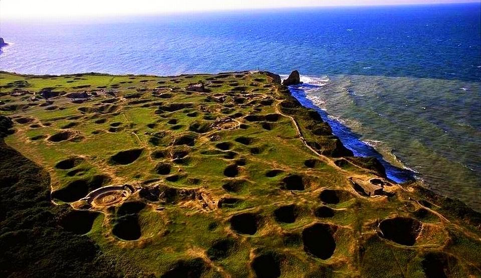 Ridden Cliffs of Pointe du Hoc