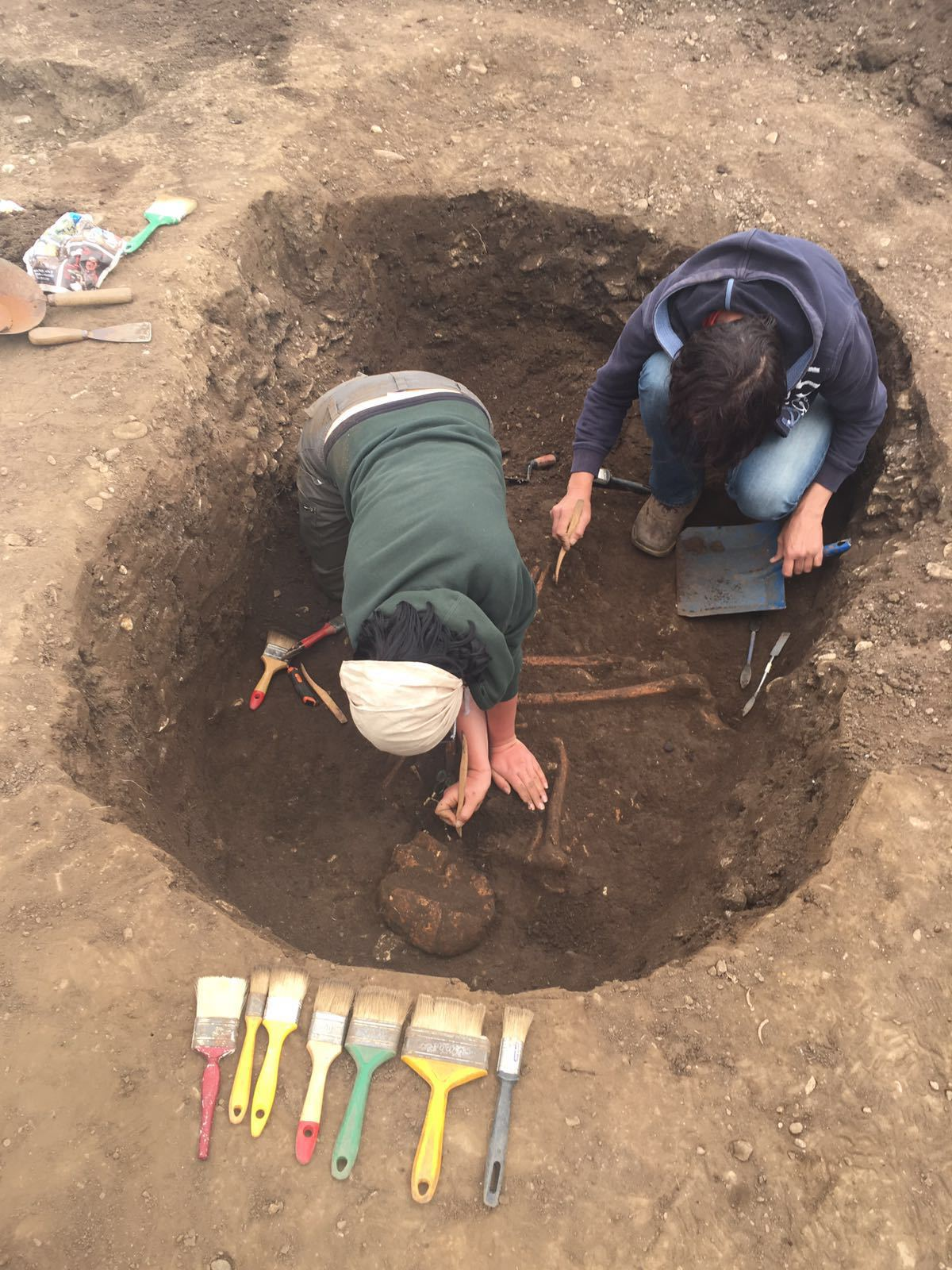 Mormânt vechi de 5000 de ani, descoperit în Prahova / Foto: Mediafax