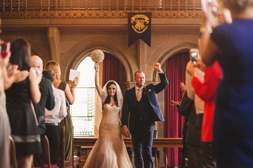 O nuntă de poveste sub simbolul lui Harry Potter