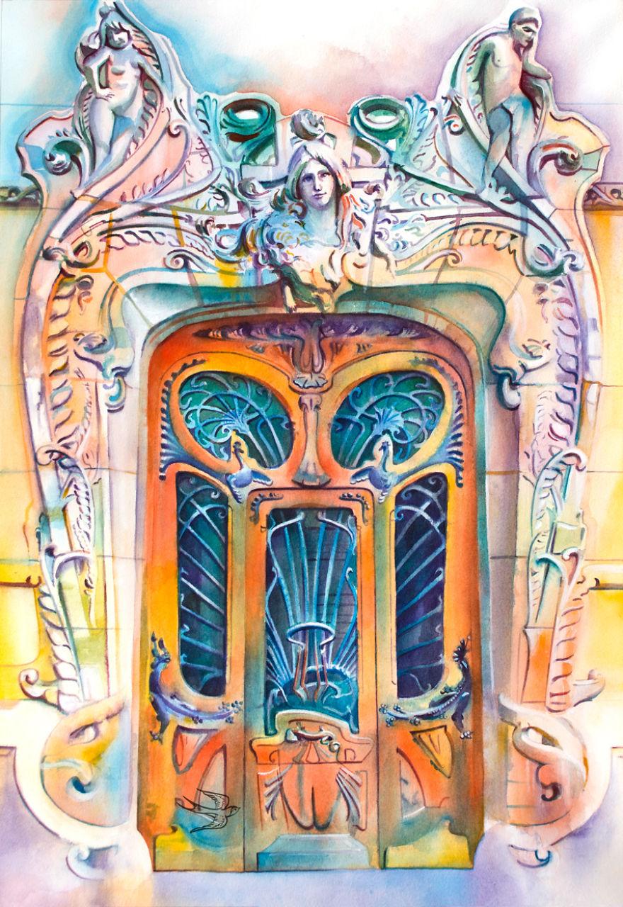 Uşile pictate de un artist ucrainean