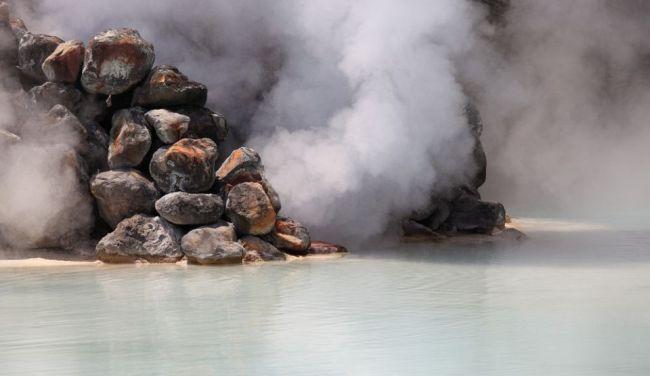 Izvoarele care fac ca un oraş din Japonia să pară că este cuprins de fum