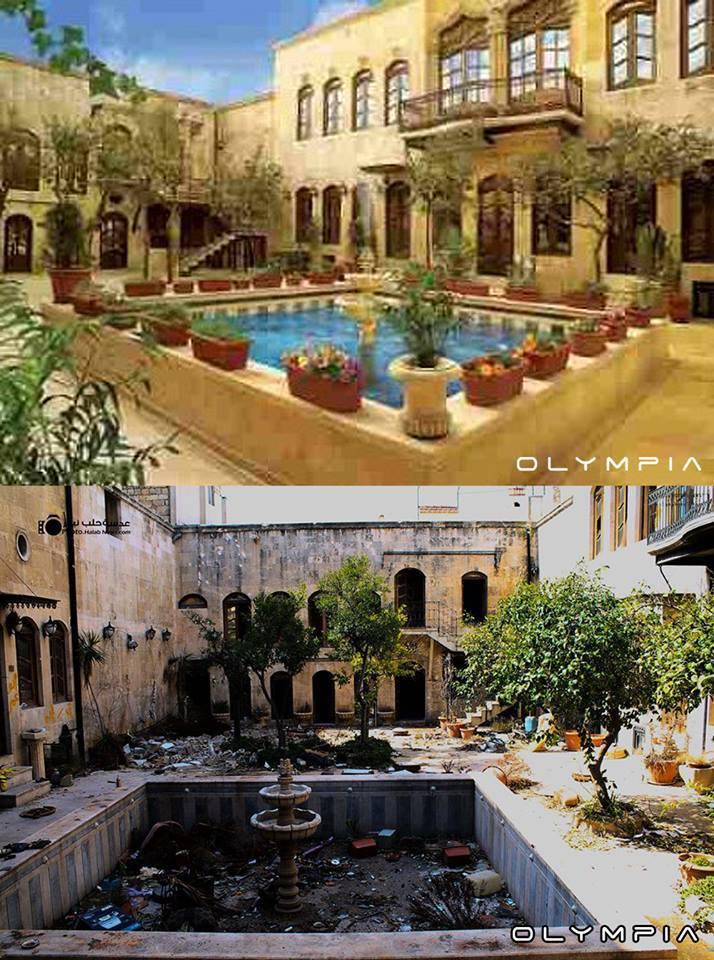 Oraşul sirian Aleppo de la monument la ruină. Efecte dezastruoase ale războiului din Siria