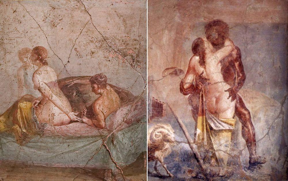 Frescele erotice din Muzeul Secret din Napoli i-a uimit pe conducătorii vremii