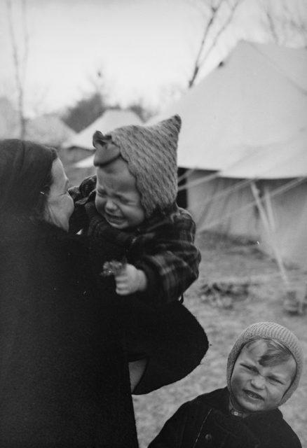 Fotografii emoţionante cu refugiaţii polonezi