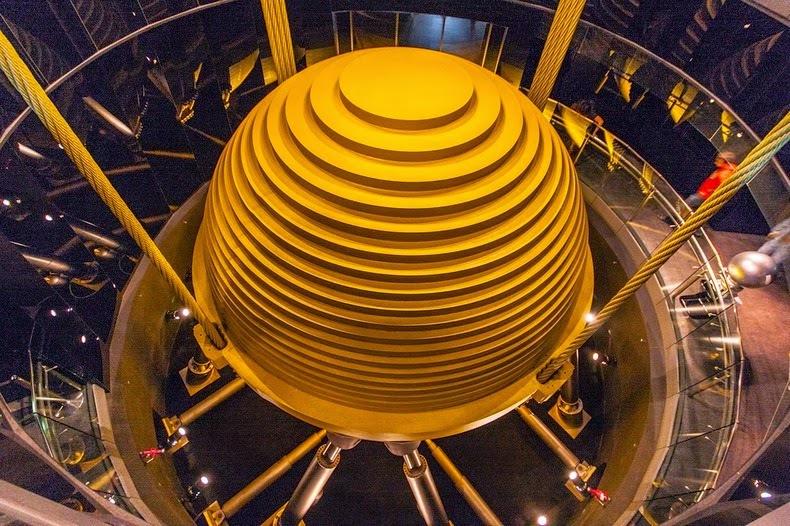 Sfera din turnul Taipei 101 de peste 700 de tone