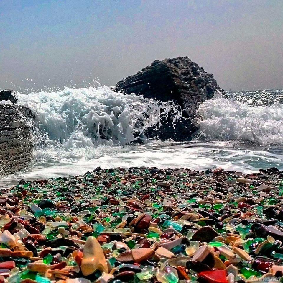 Plaja de sticlă din Golful Ussuri