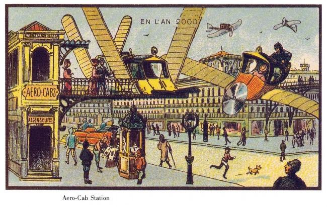 Lumea din prezent ilustrată de artiştii de acum 100 de ani