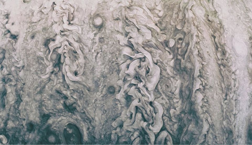 Imagini incredibile cu planeta Jupiter realizate de sonda Juno