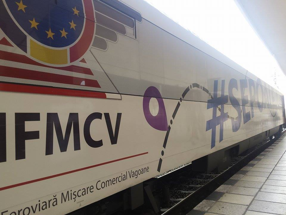 Vagon modern cu aer condiţionat şi internet
