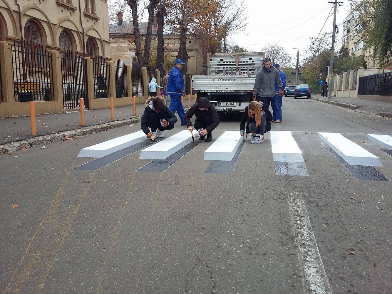 Prima trecere de pietoni 3D din România