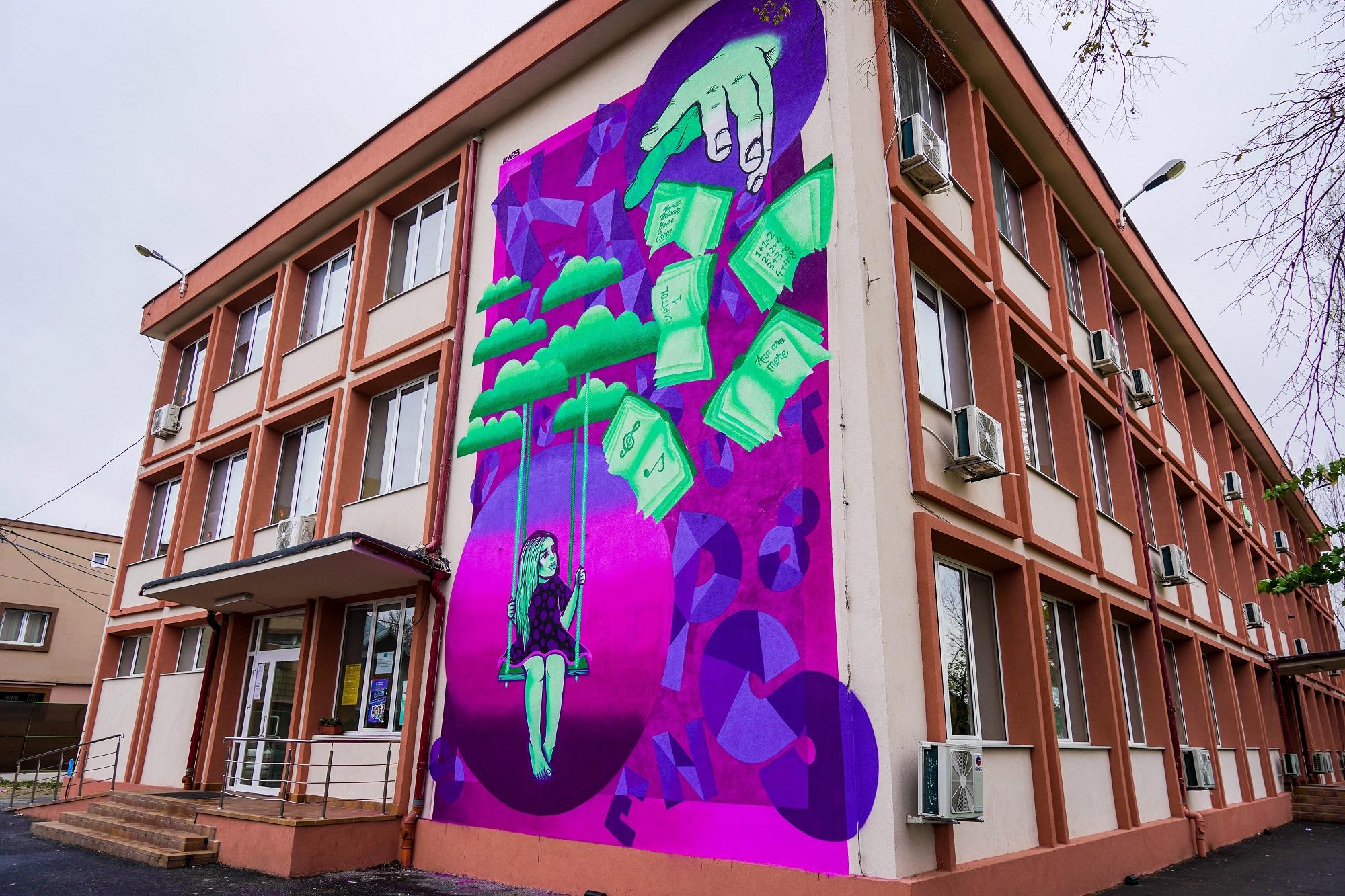 Street art pe licee şi şcoli din Bucureşti