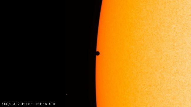 Tranzitul lui Mercur din 11 noiembrie 2019, în imagini